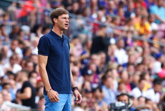 El entrenador del SD Huesca, Leo Franco
