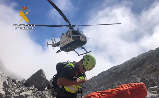 Rescate senderista en Picos de Europa