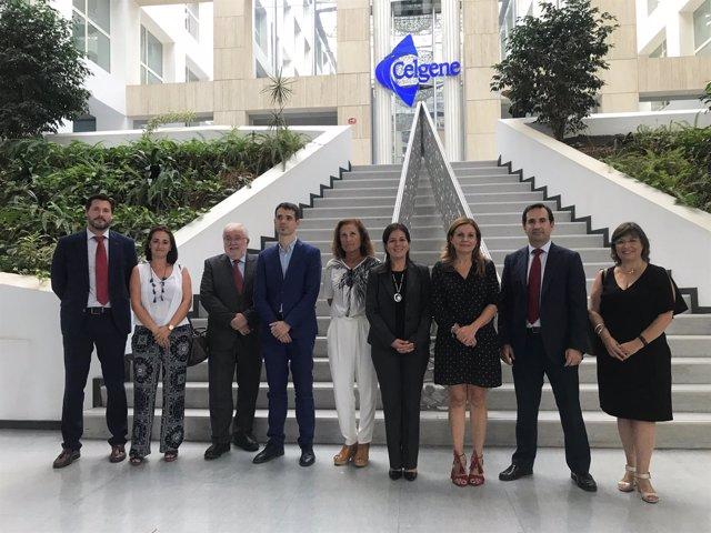 Marina Álvarez visita el Instituto de Investigación Traslacional de Celgene