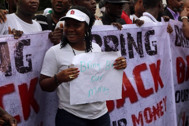 Manifestantes en Liberia por la desaparición de fondos del Banco Central