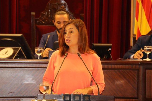Armengol recuerda que el decreto de demora fue 'cancelado' por un PP que hizo 'recortes máximos en derechos ciudadanos'