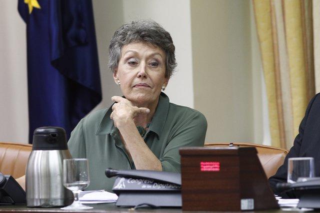 La administradora única de RTVE, Rosa María Mateo, comparece en el Congreso