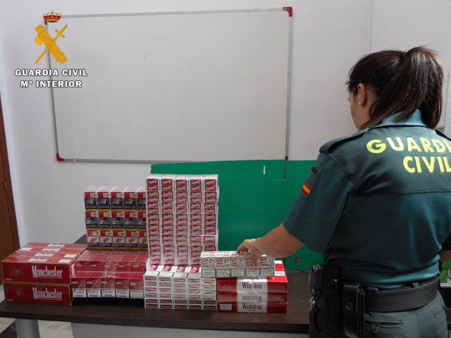 Tabaco de contrabando aprehendido por la Benemérita