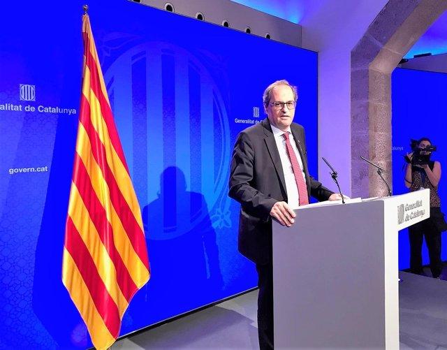 Quim Torra, presidente de la Generalitat de Catalunya