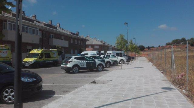 Dispositivo de la Guardoa Civil en Arcas del Villar