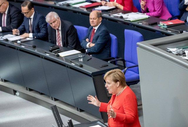 Angela Merkel en el Bundestag
