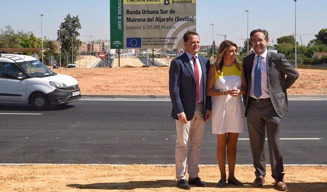 Antoni Conde, Susana Díaz y Felipe López.