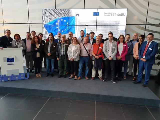 Delegación de Cáceres que visita Bruselas