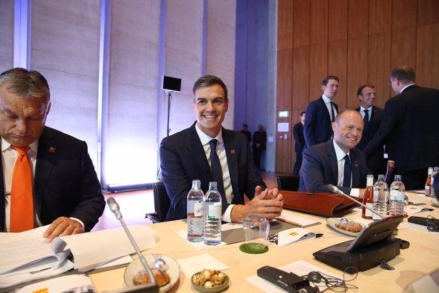 Pedro Sánchez en la Cumbre de Salzburgo