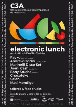Cartel de 'Electronic Lunch'