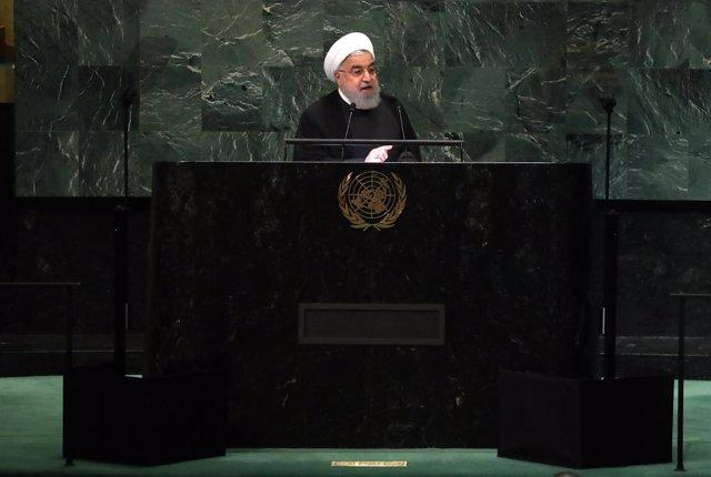 El presidente de Irán, Hasán Rohani, ante la Asamblea General de la ONU