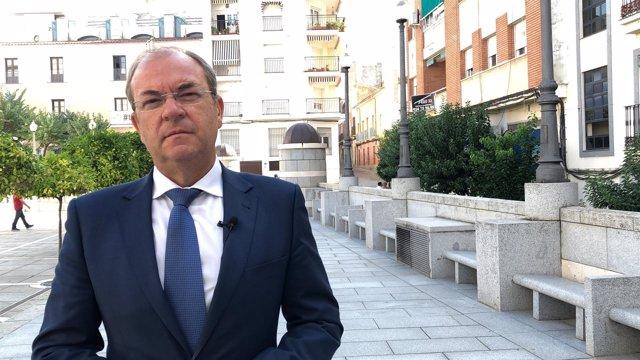 El presidente del PP Extremadura, José Antonio Monago