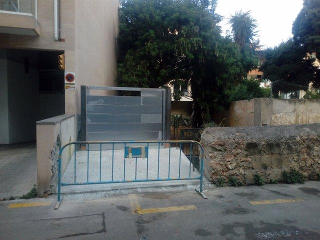 Destrucción de la pared de la calle Patrimonio