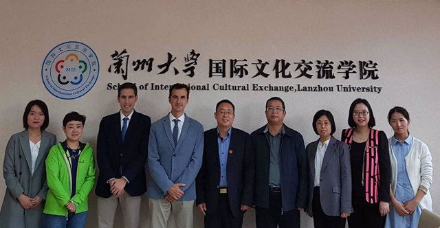La visita en China.