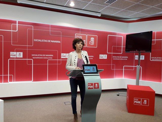 La parlamentaria del PSN Ainhoa Unzu.
