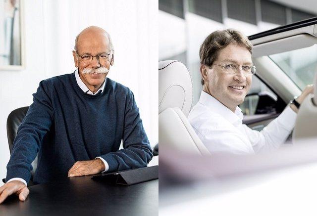 Dieter Zetsche y Ola Källenius