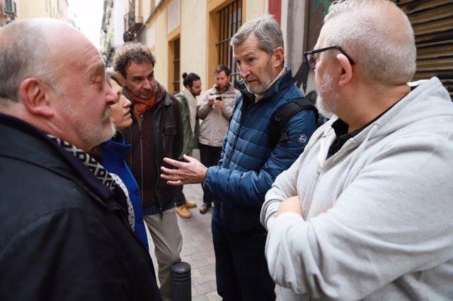 Julio Rodríguez en el barrio de Las Letras