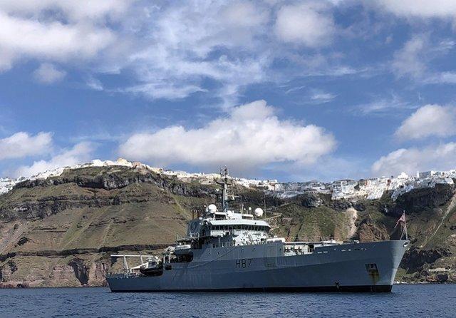 El HMS 'Echo' en Chipre
