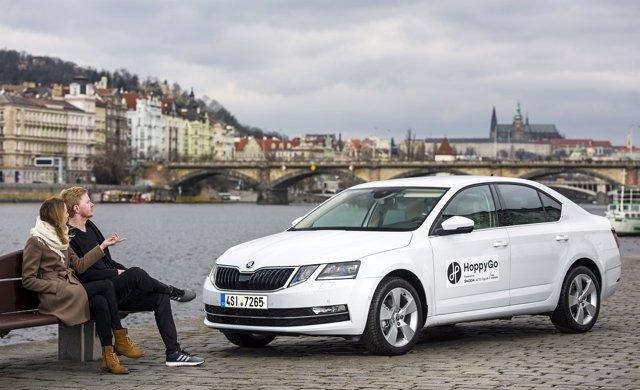 Skoda Octavia de la plataforma de 'Car Sharing' de la firma HoppyGo