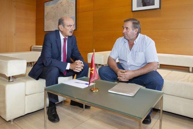 Mazón con alcalde Luena