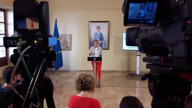La portavoz del Ejecutivo regional, Noelia Arroyo