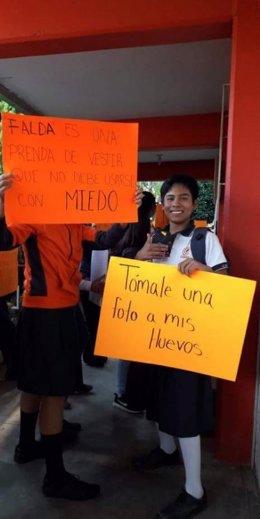 Protesta estudiantil en Oaxaca