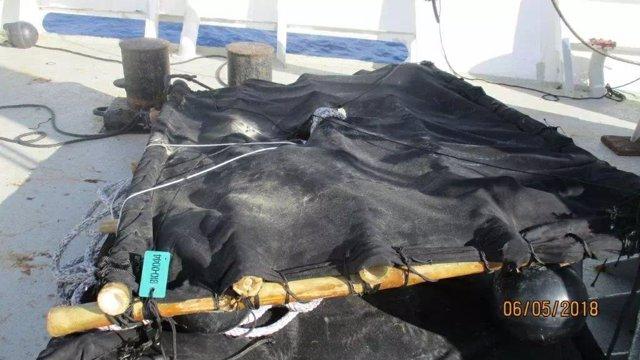 Dispositivo FAD para la concentración de atún en el Índico
