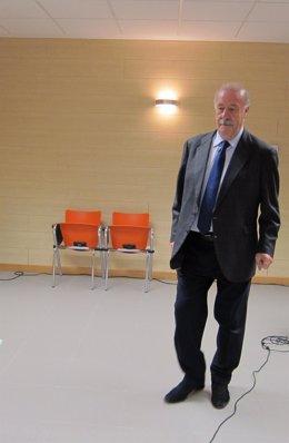 Del Bosque en un acto en Salamanca.