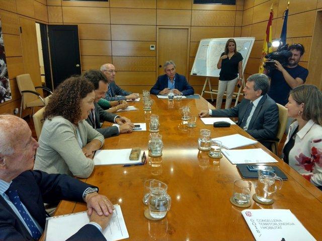 Pons y Cladera en la reunión con el secretario de Estado de Fomento