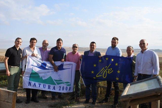 El consejero de Agricultura, Francisco Martínez, visita la Laguna de El Hito