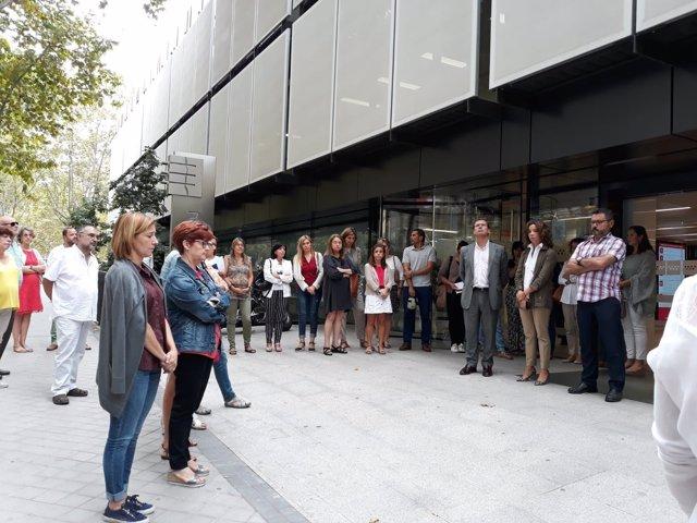 Concentración contra la violencia machista en la Comunidad de Madrid