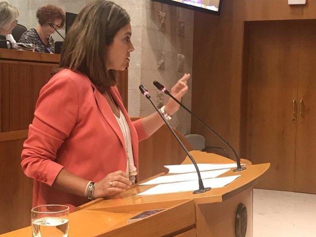Susana Gaspar (Cs) durante su intervención