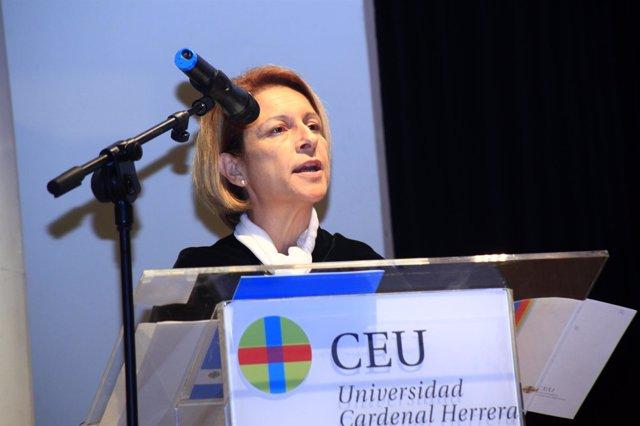La rectora del CEU-UCH, en su intervención en la apertura