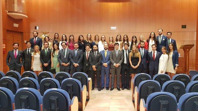 Toma de posesión de nuevos notarios en el Col·legi de Notaris de Catalunya