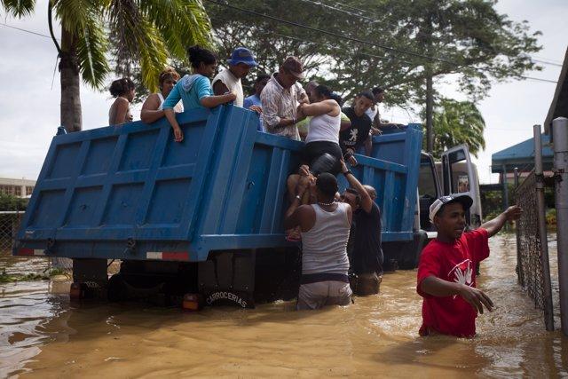 Damnificados por la lluvias en Venezuela