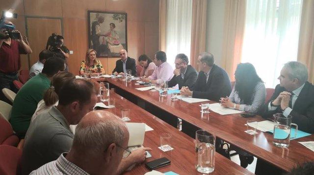 Reunión de la delegada del Gobierno y alcaldes para abordar el camalote