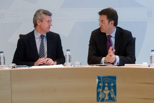 Feijóo y Rueda en el Consello de la Xunta