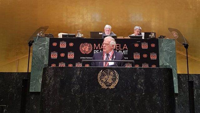 Josep Borrell en la ONU