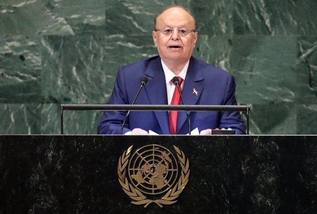 El presidente de Yemen, Abdo Rabbu Mansur Hadi, ante Asamblea General de la ONU