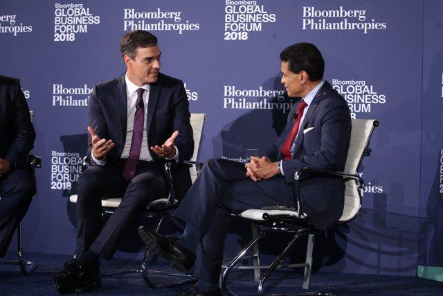 Pedro Sánchez se reúne con el consejo editorial de The Wall Street Journal