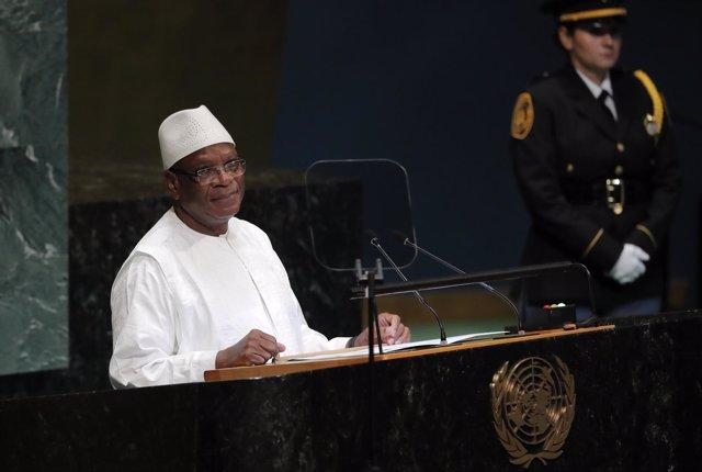 El presidente de Malí, Ibrahim Boubacar Keita, en la Asamblea General de la ONU