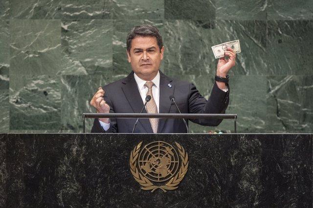 Presidente de Honduras, Juan Orlando Hernández Alvarado.