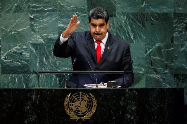 El presidente venezolano Nicolás Maduro ante la Asamblea General de la ONU
