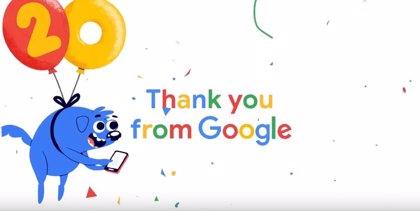 Google celebra sus 20 años con un 'doodle' sobre su historia alrededor de todo el mundo