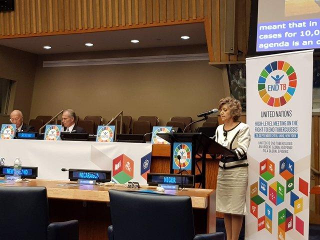 María Luisa Carcedo interviene en la sede de la ONU