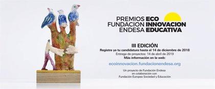 Fundación Endesa lanza la III Edición de los Premios a la Ecoinnovación Educativa para estudiantes y centros educativos