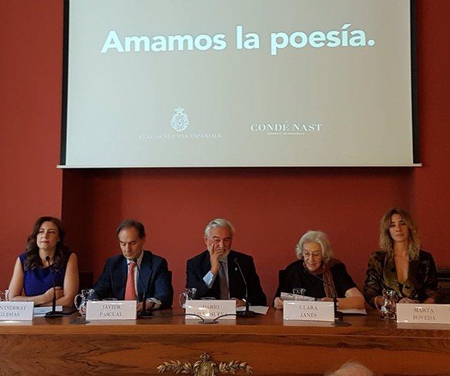 Darío Villanueva (RAE) presentación 'Amamos la poesía'