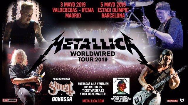 Metallica en Madrid y Barcelona en 2019: Entradas a la venta este viernes