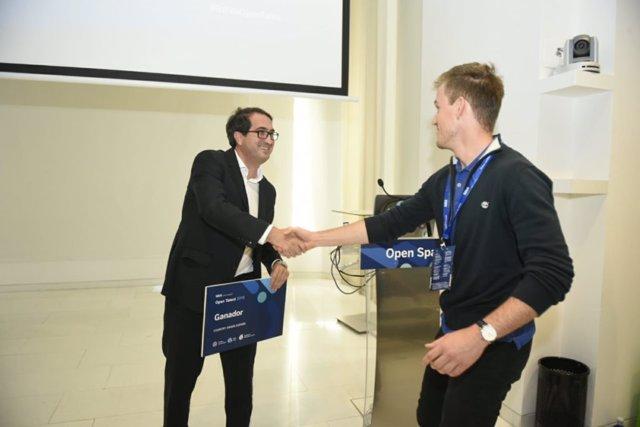 Peio Belausteguigoitia (BBVA) y Marc Rovira (Polaroo)