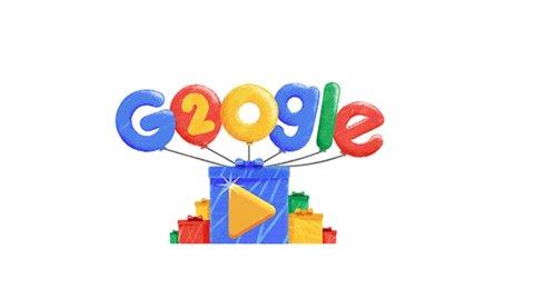 Doodle de Google pel 20è aniversari